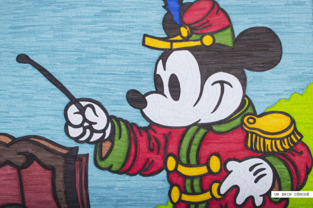 Coloriage mystère Mickey